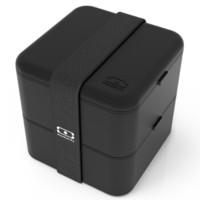 Monbento 原创双层方形分格微波炉便当盒日式饭盒 黑色 1200 03 002