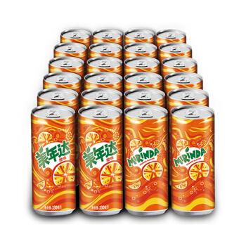 PEPSI 百事 橙子汽水 (330ml*24罐、橙味)