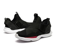 XTEP 特步 男士休闲鞋982419392867 黑红 UK 7