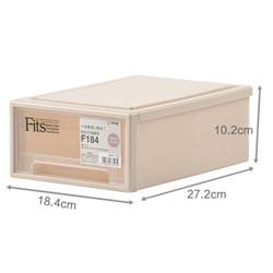 限购一件:TENMA F184 fits单层可叠加 抽屉式收纳盒1只装