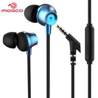 摩集客(MOGCO) 摩集客 M11手机耳机入耳式 重低音线控带麦可通话音乐耳机安卓苹果小米游戏耳机 蓝色