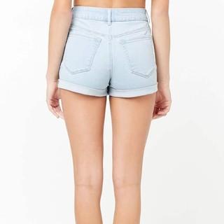 Forever 21 00262439 女士高腰牛仔短裤