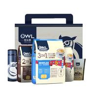 OWL 猫头鹰 特浓咖啡 三合一速溶咖啡粉 (礼盒装、3袋、混合口味、2.5kg)