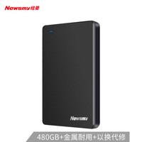 Newsmy 纽曼 移动硬盘固态 ( 1.8英寸、USB3.1、黎明黑、480GB)