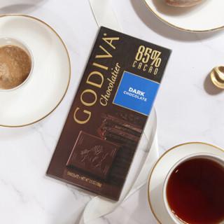 歌帝梵(GODIVA) 85%可可黑巧克力片 排块 100g *2件
