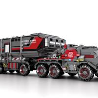 SEMBO BLOCK 森宝积木 CN171系列 107009 流浪地球 箱式运载车 3712颗