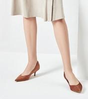 网易严选 女士羊反绒高跟鞋