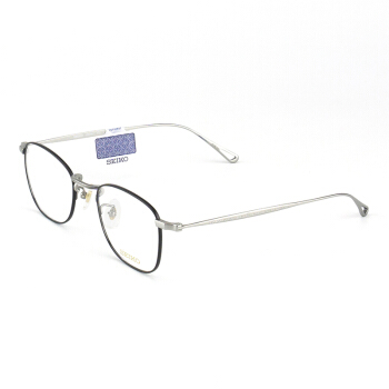 SEIKO精工 眼镜框男女款全框β-钛复古眼镜架近视配镜光学镜架H03097 C173 49mm 银灰色