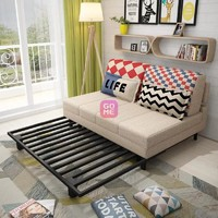TIMI 天米 沙发床  多功能 客厅沙发(米黄色 1.45米)