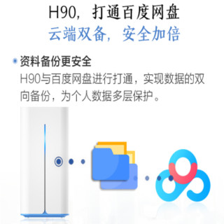 HIKVISION 海康威视 H90 云端存储家用NAS 单盘位网络存储 (海思3536D、512兆、单盘NAS、2T)
