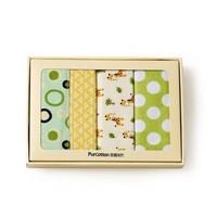 PurCotton 全棉时代 盒装全棉 婴幼儿起绒毯 76x95cm 4条装