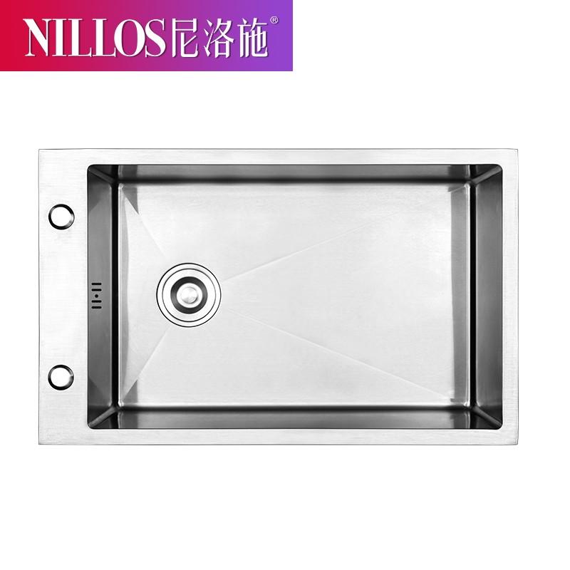 NILLOS 尼洛施  N6840 304不锈钢手工水槽 8件套
