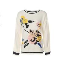 H:CONNECT10185257 女士绣花套头长袖针织衫