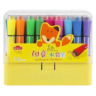 晨光(M&G)小狐希里系列36色六角印章可洗水彩笔儿童画笔 36支/盒ACPN0282