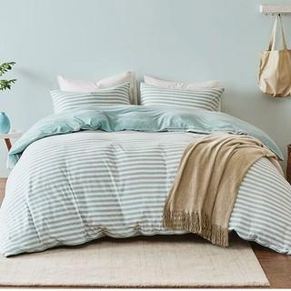 淘宝心选 尼特条纹全棉针织床上四件套 1.2m床