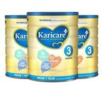 Karicare 可瑞康 婴儿牛奶粉 3段 900g* 3罐
