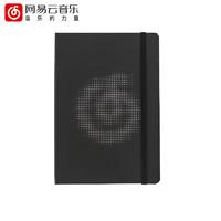 网易云音乐 黑色镂空笔记本 A5/224页