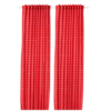 IKEA 宜家 ROSALILL欧塞利尔 房间遮光窗帘,一对 (145x250 厘米、 红色/白色)