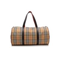 BURBERRY 博柏利 Vintage 大号格纹旅行袋