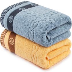 三利 毛巾家纺 纯棉提缎毛巾2条装 33×76cm *7件