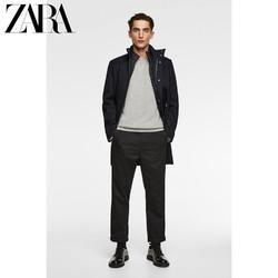 ZARA 新款 男装 拼接衬里厚外套 06518310401