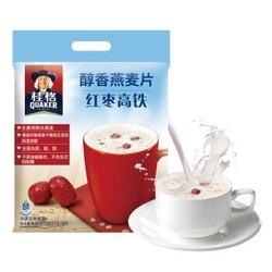 桂格 QUAKER 红枣高铁醇香燕麦片675g 营养早餐 方便快捷 即冲即饮(内含25包) *5件