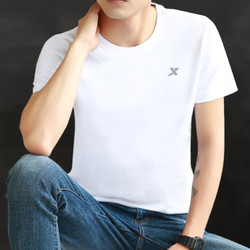 特步短袖t恤男夏季新款正品速干白色半袖男士上衣健身运动服男装