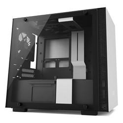 NZXT 恩杰 H200 mini-ITX机箱 钢化玻璃侧透 内置静音风扇 支持240mm水冷 恩杰NZXT H200 白黑色