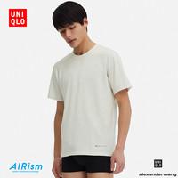 UNIQLO 优衣库 AIRism  415920 男圆领T恤 (175/100/L、乳白色)
