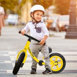 Cakalyen可莱因美国儿童自行车滑步车12寸滑行车儿童无脚蹬自行车儿童平衡车85-120cm HP01 明媚黄-经典