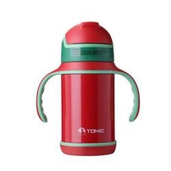 特美刻(TOMIC)保温杯 儿童吸管保温杯带手柄防漏水杯 TWL1285 260ml 亮红色 *2件