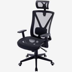 伯力斯 电脑椅 人体工学办公椅子 全网透气老板椅 可躺电竞转椅 黑色 MD-0835-2