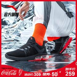 安踏男鞋运动鞋男2019夏季新款官网旗舰正品半掌气垫鞋男子跑步鞋