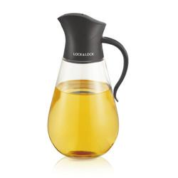 乐扣乐扣(LOCK&LOCK) 自动开合玻璃油壶厨房家用防漏油瓶大容量调味罐酱油米醋瓶 CKO101BLK