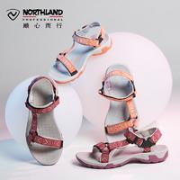 NORTHLAND 诺诗兰 沙滩系列 女士休闲运动沙滩鞋 FS062270、草甸紫色、36