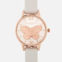 复活节促销:OLIVIA BURTON 蝴蝶浮雕女款时尚腕表
