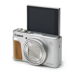 Canon 佳能 PowerShot SX740 HS 数码相机 (银色、24 - 960mm、2030万像素、1/2.3英寸)