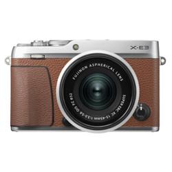富士(FUJIFILM)X-E3 微单相机 套机 棕色(15-45mm镜头 )  2430万像素 触摸屏 4K视频 蓝牙4.0