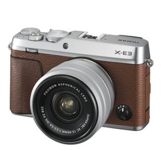 FUJIFILM 富士   X-E3 数码相机 (棕色、15-45mm、f3.5-5.6、2430万像素、APS-C画幅)