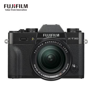 富士(FUJIFILM)X-T30/XT30 微单相机 套机 黑色(18-55mm镜头 ) 2610万像素 4K视频 蓝牙WIFI