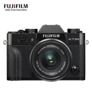 FUJIFILM 富士 XT30 单电相机 (黑色、套机、15-45mm、 F3.5-5.6、2610万像素、APS-C)
