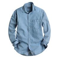 lativ 诚衣 40475011 牛仔长袖衬衫-男(水洗产品)