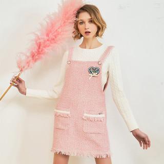 TEENIE WEENIE 维尼熊 女装吊带格纹连衣裙TTOW81201D