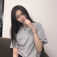 champion 冠军 情侣款 纯色 经典T恤