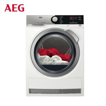 AEG 7系列 T7DEE834 节能静音全自动变频滚筒热泵烘干机 (8KG、白色)