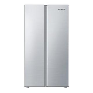 Skyworth 创维 BCD-450WYA 风冷无霜 对开门冰箱 (银色、450升、3级、定频)