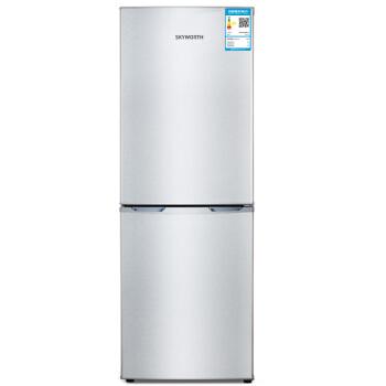 Skyworth 创维 BCD-160 节能实用 双门冰箱 (银色、160升、3级、定频)