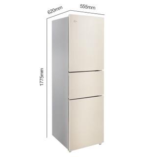 KINGHOME 晶弘 BCD-218WETCL 节能静音 多门冰箱 (银色、 218、3级、定频)
