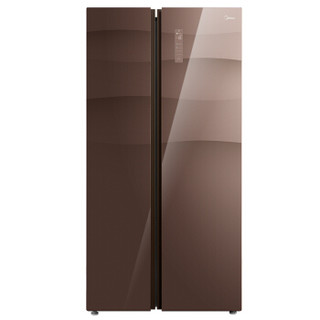 Midea 美的 BCD-550WKGPZM 风冷无霜变频节能对开门冰箱 (咖啡色、550、2级、变频)