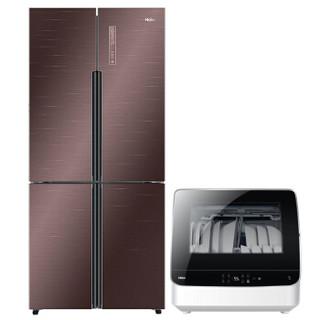 Haier 海尔 BCD-479WDEY 双变频风冷无霜 十字对开门冰箱 (金棕色、479、1级、变频)
